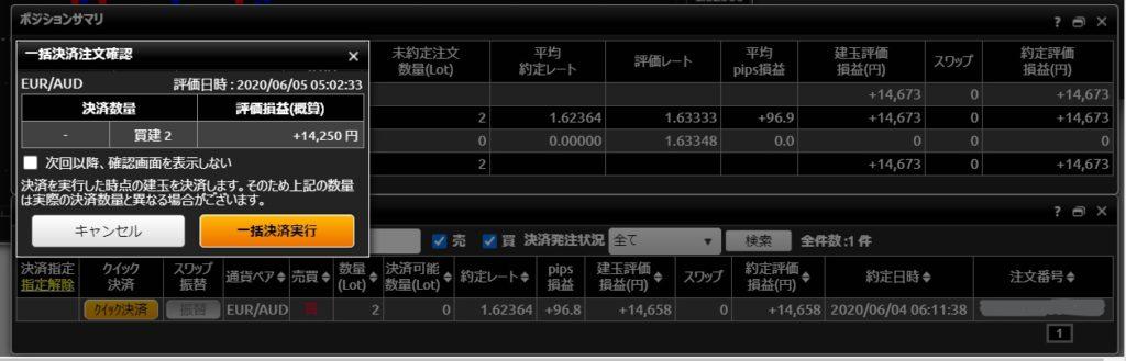 DMM FX ポジションサマリ